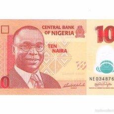 Billetes extranjeros: BILLETE NUEVO NIGERIA 10 NAIRA. Lote 55338569
