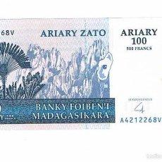 Billetes extranjeros: BILLETE NUEVO MADAGASCAR 100 ARYARY. Lote 55338622