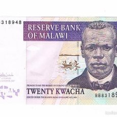 Billetes extranjeros: BILLETE NUEVO MALAWI 20 KWACHA. Lote 55338684