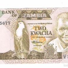 Billetes extranjeros: BILLETE NUEVO ZAMBIA 2 KWACHA. Lote 55338973