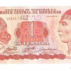 Billetes extranjeros: BILLETE NUEVO HONDURAS 1 LEMPIRA. Lote 55339064