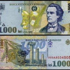 Billetes extranjeros: RUMANIA - 1000 LEI - AÑO 1998 - S/C. Lote 96017687