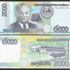 Billets internationaux: LAOS. 2000 KIP 2011. PICK 41. S/C. VER DESCRIPCION.. Lote 269686908