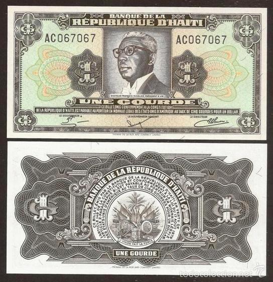 HAITI. 1 GOURDE L.1979. PICK 239. S/C (Numismática - Notafilia - Billetes Internacionales)