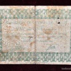 Billetes extranjeros: BILLETE DEL AYUNTAMIENTO DE CODINES DEL VALLÉS. 1 PESETA DEL AÑO 1937. GUERRA CIVIL. Lote 56404880