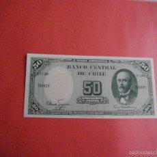 Billetes extranjeros: PRECIOSO BILLETE PLANCHA DE CHILE 50 PESOS QUE NO TE FALTEN EN TU COLECCION. Lote 104284779