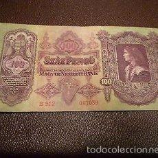 Billetes extranjeros: HUNGRÍA 100 PENGO 1930. Lote 56830669