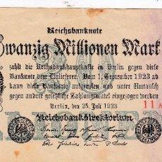 Billetes extranjeros: 0238 BILLETE ALEMANIA AÑO 1923 CIRCULADO. Lote 56909715