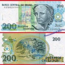 Billetes extranjeros: BRASIL 200 CRUZEIROS 1990 PICK 229 - SC. Lote 91080118