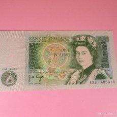 Billetes extranjeros: ANTIGUO BILLETE-GRAN BRETAÑA-ONE POUND(1 LIBRA ESTERLINA)-1971/82-PERFECTO ESTADO.. Lote 42253612
