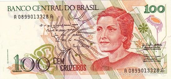 BRASIL 100 CRUZEIROS PICK 228 S/C (Numismática - Notafilia - Billetes Extranjeros)