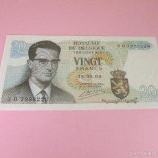 Billetes extranjeros: ANTIGUO BILLETE-BÉLGICA-20 FRANCS-15.06.64-BALDUINO-COMO NUEVO-VER FOTOS... Lote 35947929
