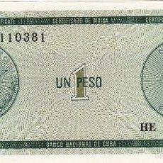 Billetes extranjeros: CUBA 1 PESO (FX6) S/C. Lote 56994786