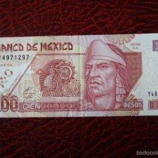Billetes extranjeros: MEXICO, 100 PESOS 26-MARZO-2002. Lote 57007880