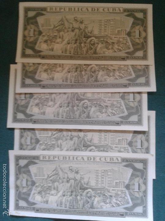 Billetes extranjeros: LOTE DE SEIS BILLETES CUBANOS ,UNO MUY ESPECIAL ANTIGUO ,CON EL CUÑO DEL CHE - Foto 2 - 57011198