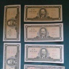 Billetes extranjeros: LOTE DE SEIS BILLETES CUBANOS ,UNO MUY ESPECIAL ANTIGUO ,CON EL CUÑO DEL CHE. Lote 57011198