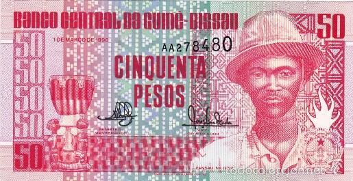 GUINEA BISSAU 50 PESOS (1/03/1990) S/C (Numismática - Notafilia - Billetes Extranjeros)