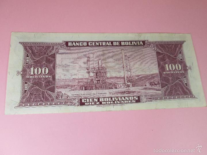 Billetes extranjeros: ANTIGUO BILLETE DE BOLIVIA-100 BOLIVIANOS-20 DICIEMBRE 1945-249063-PLANCHA. - Foto 3 - 35913590