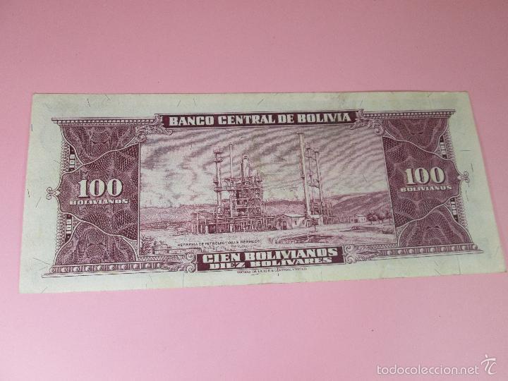 Billetes extranjeros: ANTIGUO BILLETE DE BOLIVIA-100 BOLIVIANOS-20 DICIEMBRE 1945-249063-PLANCHA. - Foto 5 - 35913590
