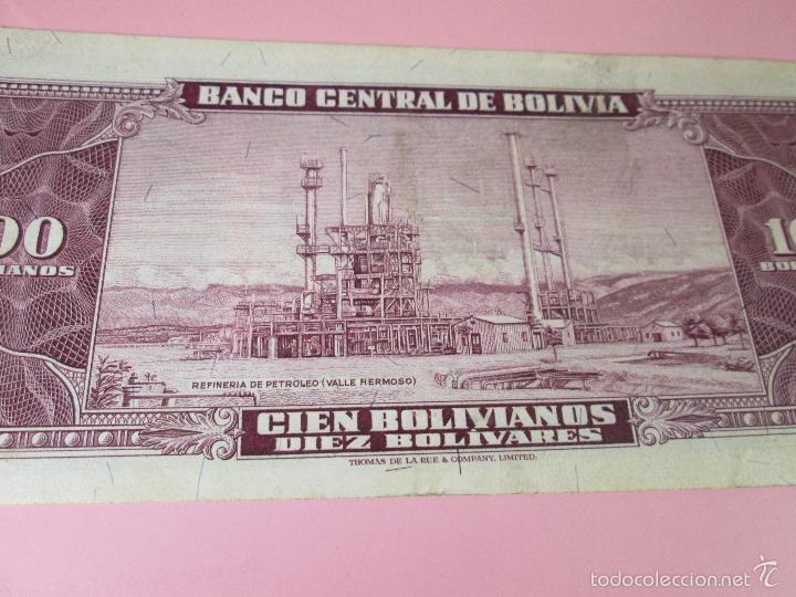 Billetes extranjeros: ANTIGUO BILLETE DE BOLIVIA-100 BOLIVIANOS-20 DICIEMBRE 1945-249063-PLANCHA. - Foto 7 - 35913590