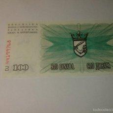 Billetes extranjeros: BOSNIA 100 DINARA 1992 PLANCHA. Lote 57262735