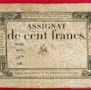 Billetes extranjeros: BILLETE FRANCIA , ASSIGNAT DE 100 FRANCOS, CENT FRANCS , MBC+ , ORIGINAL , T823. Lote 57311377