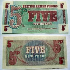 Billetes extranjeros: BILLETE BRITISH ARMED FORCES FIVE NEW PENCE PLANCHA. Lote 57563626
