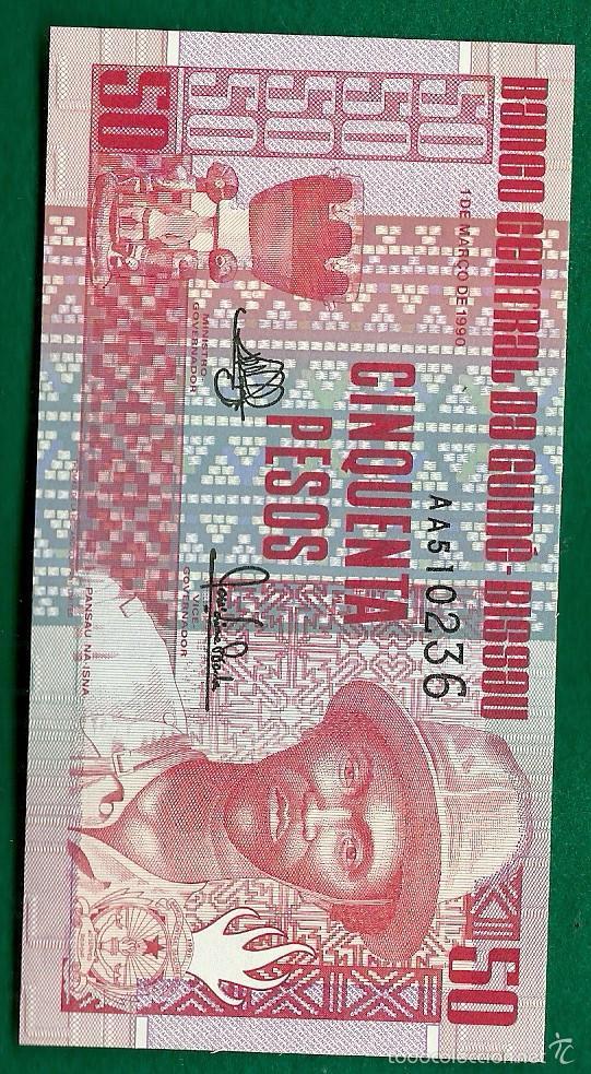 GUINEA-BISSAU - 50 PESOS 1990 P. 10 (Numismática - Notafilia - Billetes Extranjeros)
