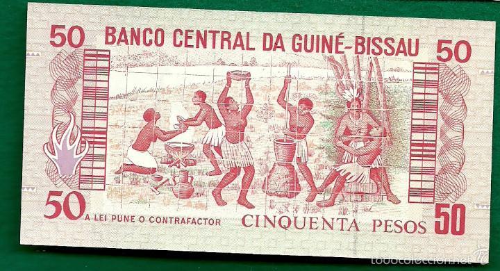 Billetes extranjeros: GUINEA-BISSAU - 50 PESOS 1990 P. 10 - Foto 2 - 57815881