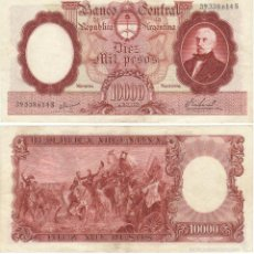 Billetes extranjeros: ARGENTINA 10000 10.000 PESOS 1969 EBC-. VER DETALLE P281. Lote 57871430
