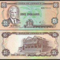 Billetes extranjeros: JAMAICA. 5 DOLARES (1984). FIRMA 7. S/F. PICK 66. S/C.. Lote 195517135
