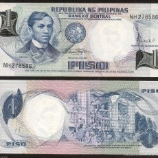 Billetes extranjeros: FILIPINAS 1 PISO 1969 PICK 142B SC UNC. Lote 219275988