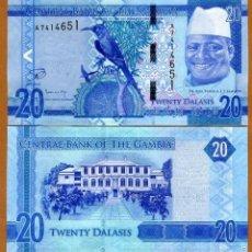 Billetes extranjeros: GAMBIA - 20 DALASIS - SIN FECHA (2015) - S/C. Lote 126059351