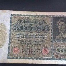 Billetes extranjeros: BILLETE ALEMAN DE 1922 DE 10000 MARCOS. Lote 58291525