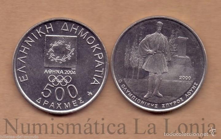 GRECIA 500 DRACHMAS OLYMPICS SERIES - SPYROS LOUIS 2000 KM 179 SC/ UNC (Numismática - Notafilia - Billetes Extranjeros)