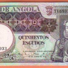Billetes extranjeros: MUY ESCASO BILLETE DE 500 ESCUDOS ANGOLA 1973 PLANCHA EL DE LAS FOTOS VER TODOS MIS LOTES DE BILLETE. Lote 58548660
