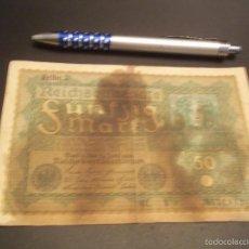 Billetes extranjeros: BILLETE 50 MARCOS - 1919 - REICHSBANKNOTE ZWANZIG MARK - ALEMANIA REPÚBLICA DE WEIMAR. Lote 191493036