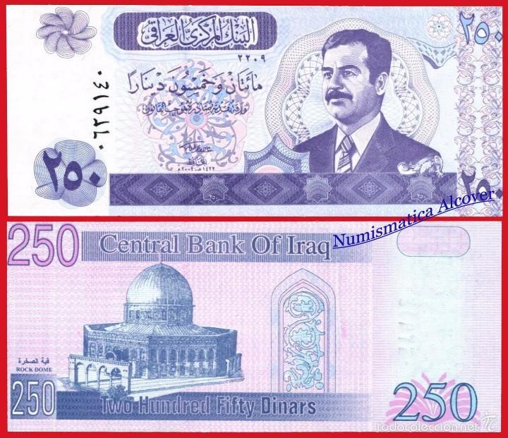 Iraq Saddam 250 Dinar 2002 UNC P-88