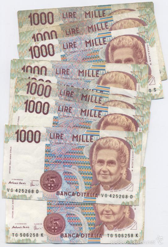 ITALIA-LOTE DE 11 BILLETES DE 1000 LIRAS (Numismática - Notafilia - Billetes Extranjeros)