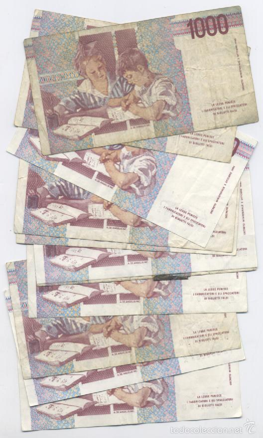 Billetes extranjeros: ITALIA-LOTE DE 11 BILLETES DE 1000 LIRAS - Foto 2 - 59457050