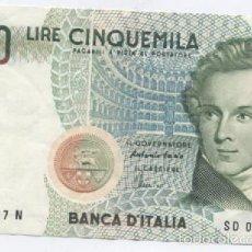 Billetes extranjeros: ITALIA- 5000 LIRAS-1985. Lote 59457515
