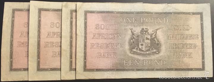 Billetes extranjeros: South África reserve 1 pound 1941 muy raro ref 36832 - Foto 2 - 91657485