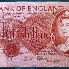 Billetes extranjeros: INGLATERRA ENGLAND BILLETE DE 10 SHILLINGS DE 1967 P-373C S/C-. Lote 59852748