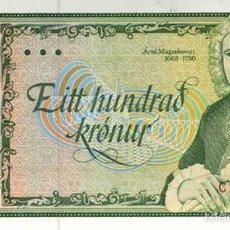 Billetes extranjeros: ICELAND 100 KRONER 1961 SIN CIRCULAR PLANCHA DE TACO REF 347. Lote 87008810