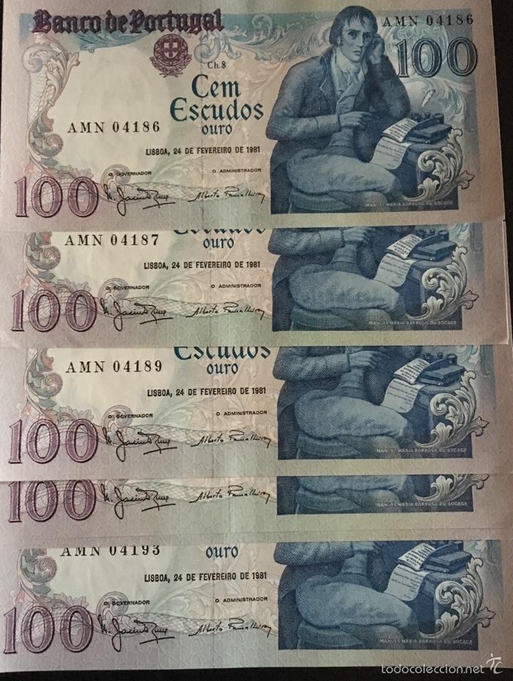 PORTUGAL 100 ESCUDOS 1981 MUY RAROS REF 853 (Numismática - Notafilia - Billetes Internacionales)