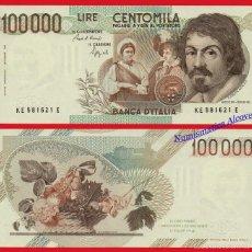 Billetes extranjeros: ITALIA 100000 LIRAS 1983 CARAVAGGIO PICK 110 SC. Lote 60249751