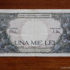 Billetes extranjeros: RUMANIA,1000 LEI, 10-09-1941. Lote 60333583