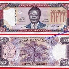 Billetes extranjeros: LIBERIA 50 DÓLARES 2011 PICK 29 E SC. Lote 237299120
