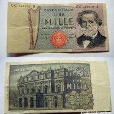Billetes extranjeros: BILLETE ITALIA 1000 LIRAS CIRCULADO. Lote 61413955