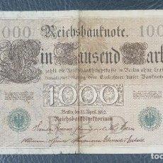 Billetes extranjeros: BILLETE IMPERIO ALEMAN 1910. 1000 MARK REICHSBANKNOTE. ALEMANIA. Lote 61431647